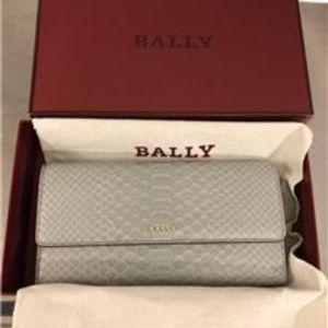 BALLY Python leather snakeskin bifold wallet NWT